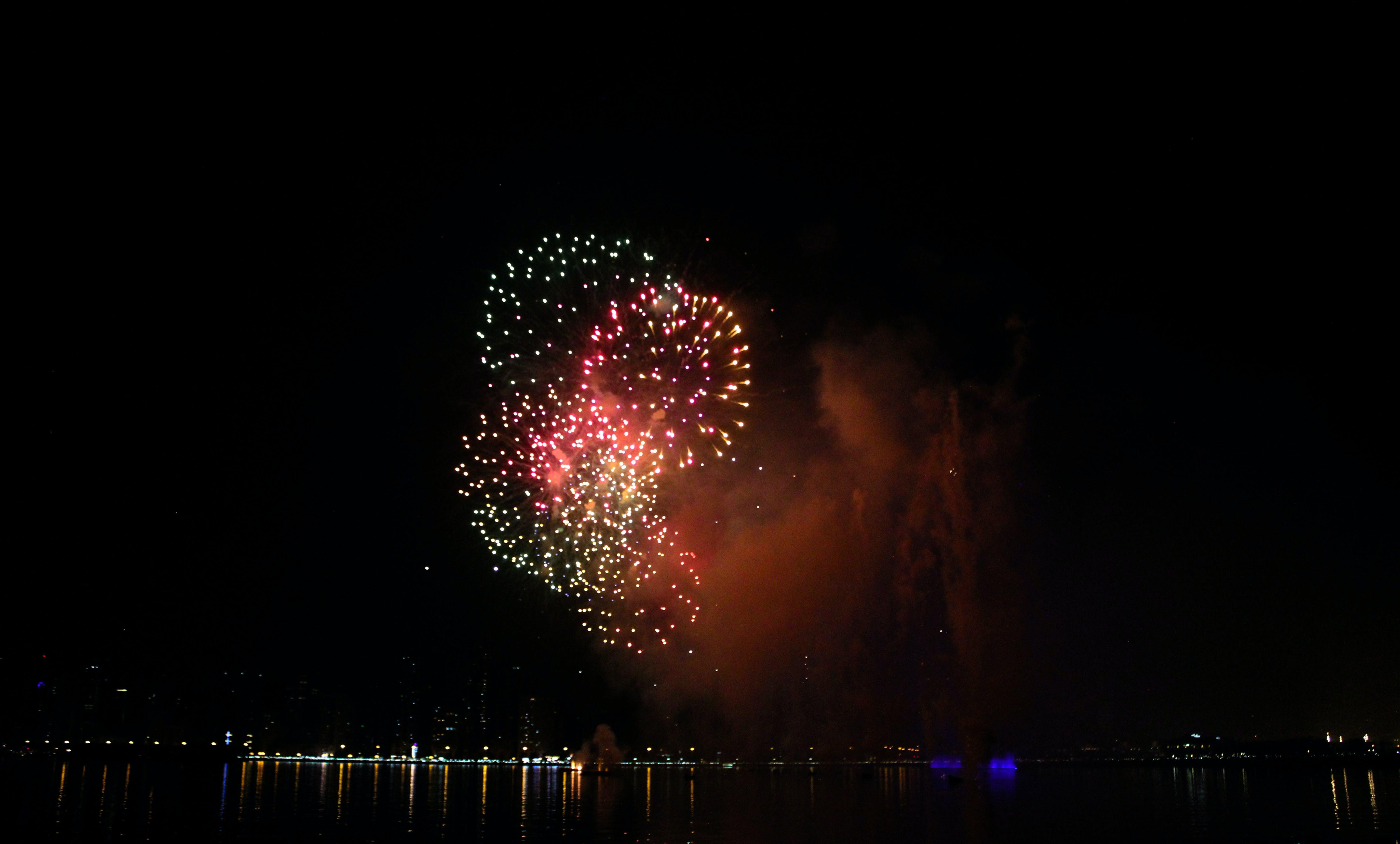 Free stock photo of bright colours, dubai, fireworks, new year