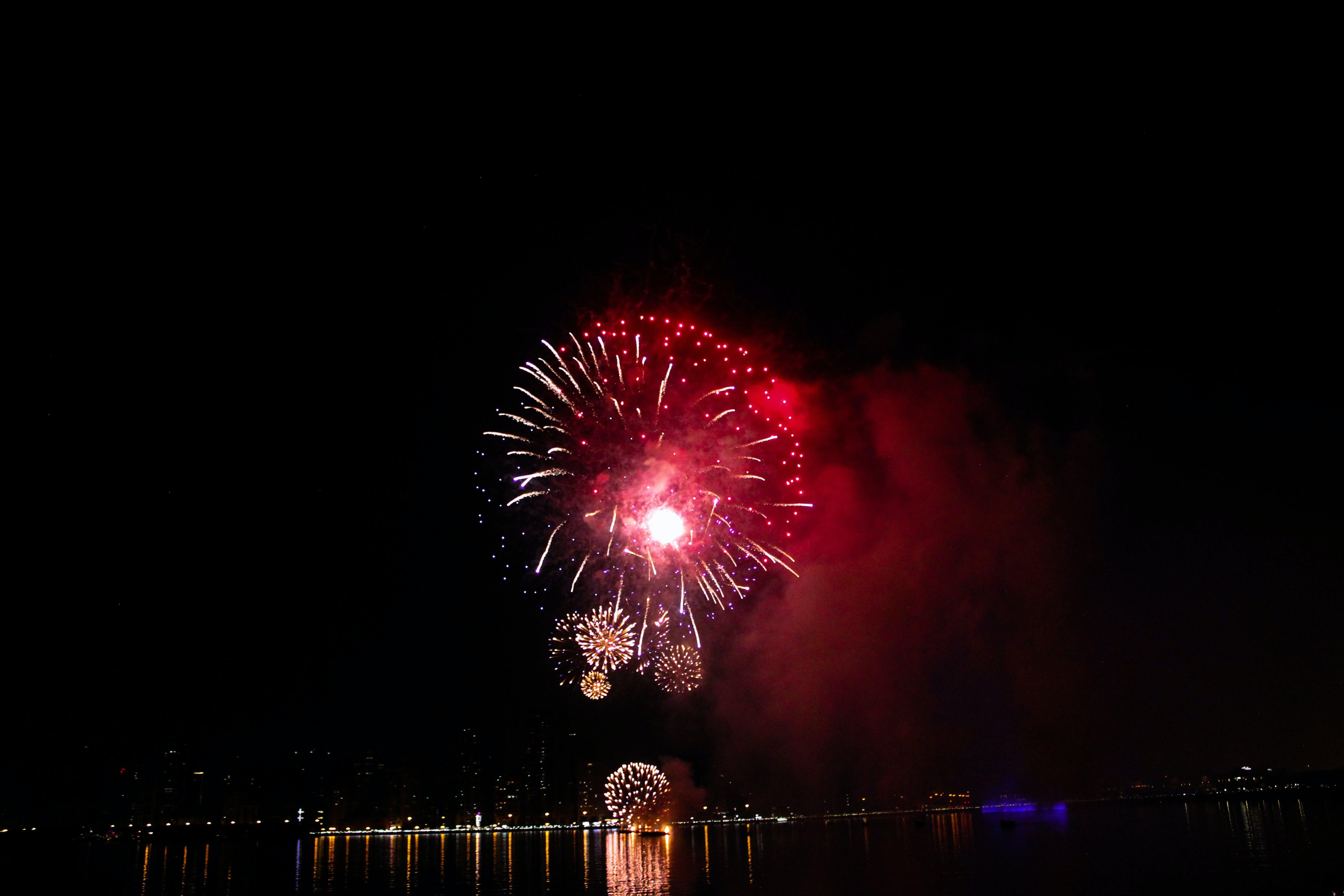 Free stock photo of bright, bright colours, dubai, firework