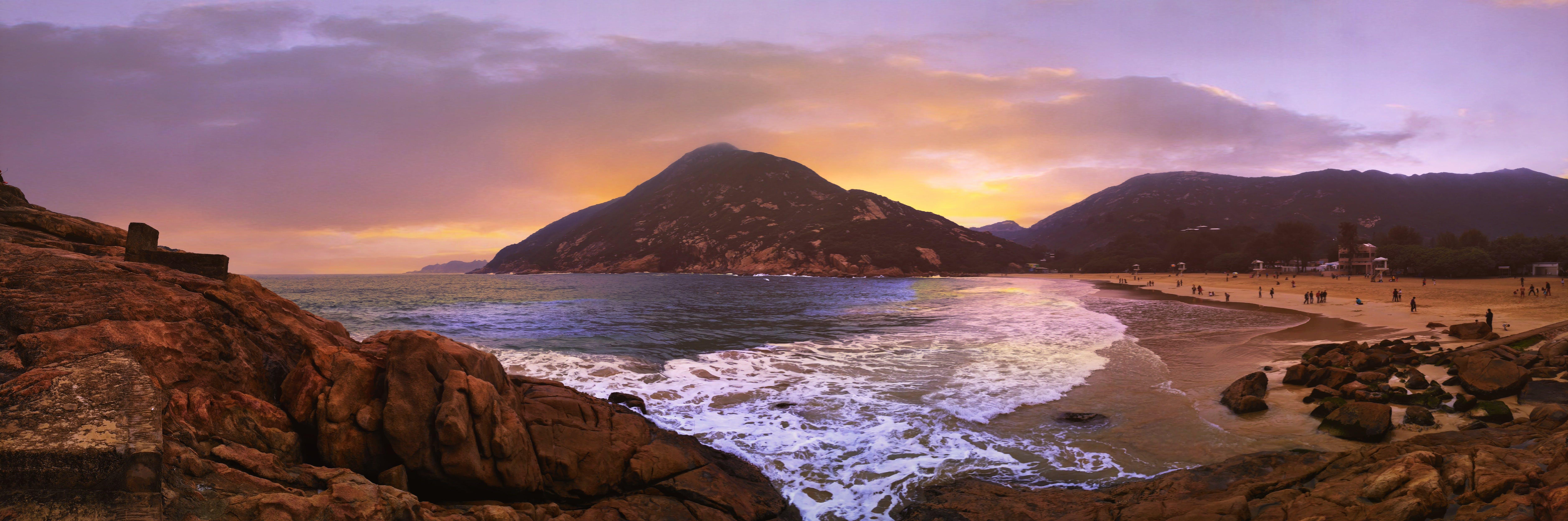 Gratis lagerfoto af aften, bjerge, bølger, dagslys