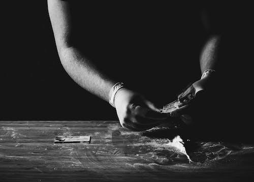 Free stock photo of black, black and white, cocaine, drug