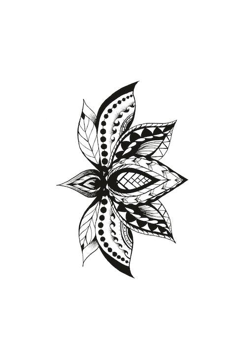Ingyenes stockfotó lótuszvirág tetoválás tervezés témában