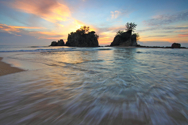 シースケープ, ビーチ, 光, 反射の無料の写真素材