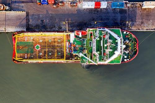 Foto profissional grátis de aerofotografia, cais, carga, cargueiro