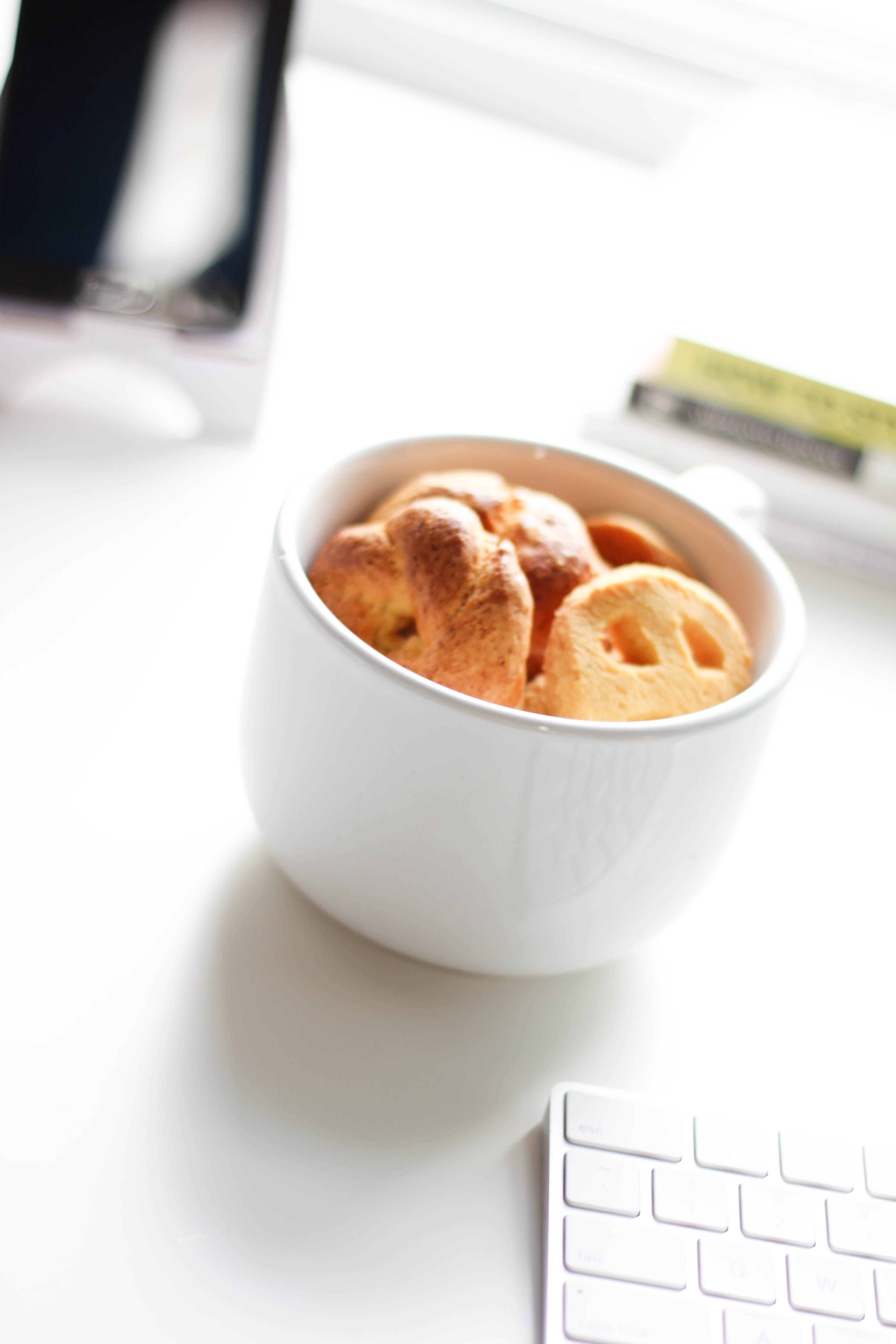 White Ceramic Mug With Cookies