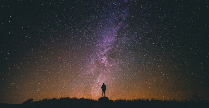 Free stock photo of sky, person, night, silhouette