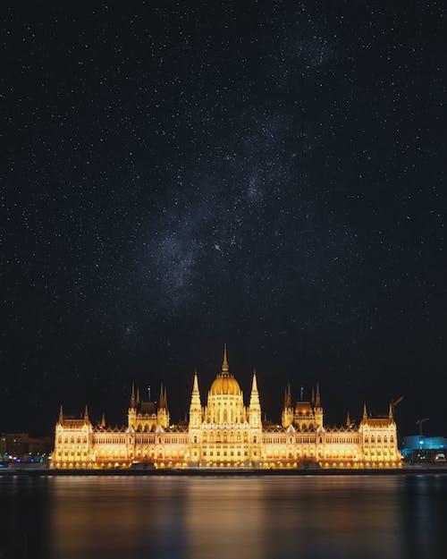 Foto profissional grátis de Budapeste, céu, congresso, construção
