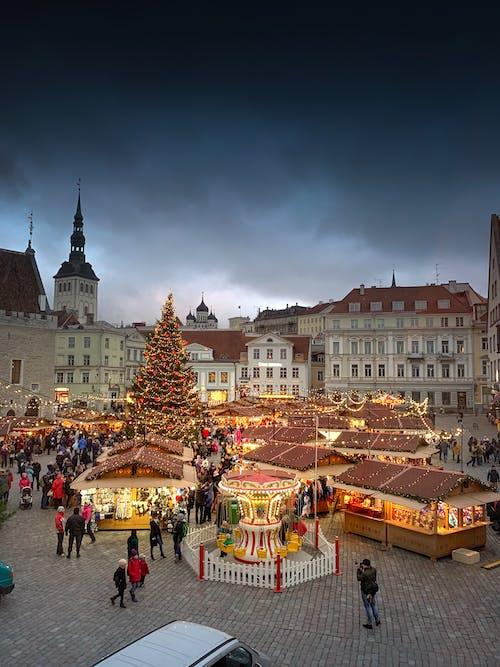 Foto profissional grátis de Estônia, feira, hansa, Natal