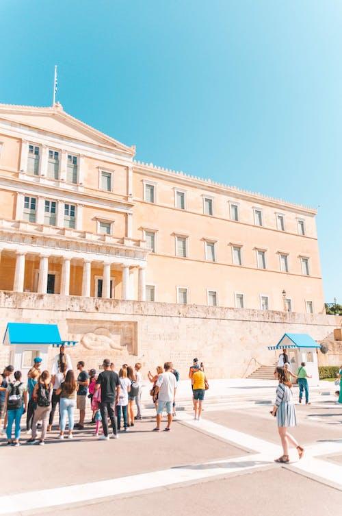 Foto profissional grátis de arquitetura, Atenas, azul, construção