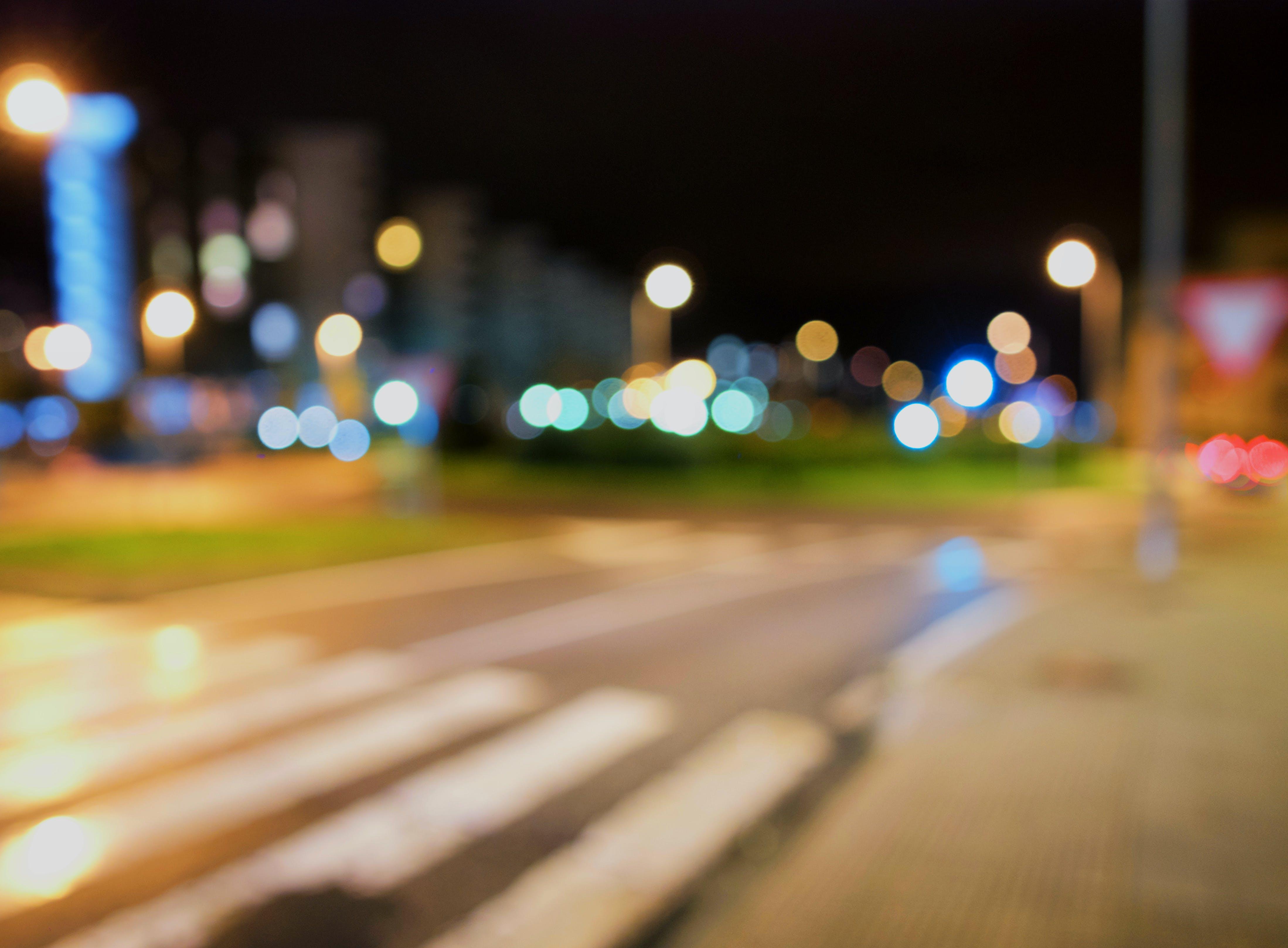 Free stock photo of bokeh, city lights, night, street