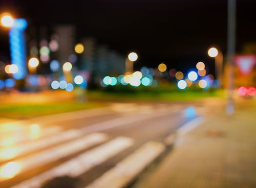 Free stock photo of city lights, night, street, traffic