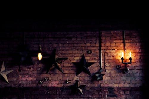 Kostenloses Stock Foto zu beleuchtung, licht an der wand