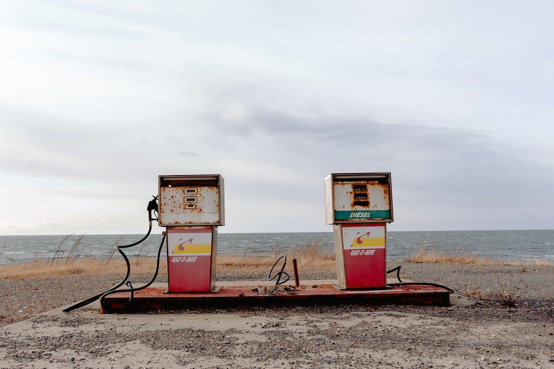 abandonné, station d'essence, station-service
