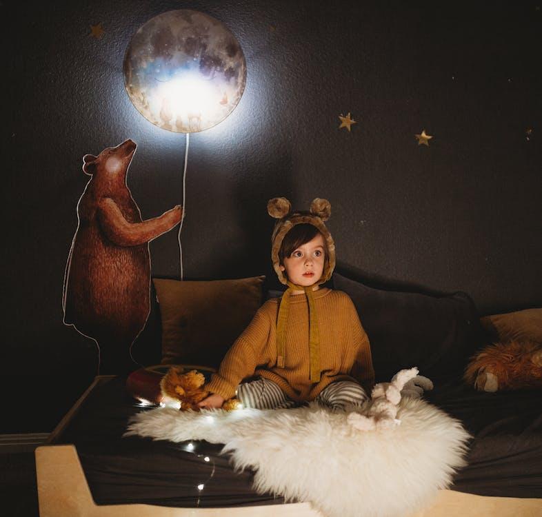 bedtijd, beer, goede nacht