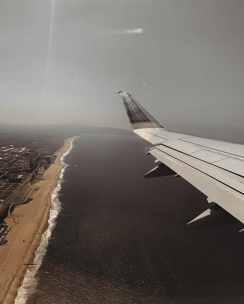 Ocean View and Airplane Wing