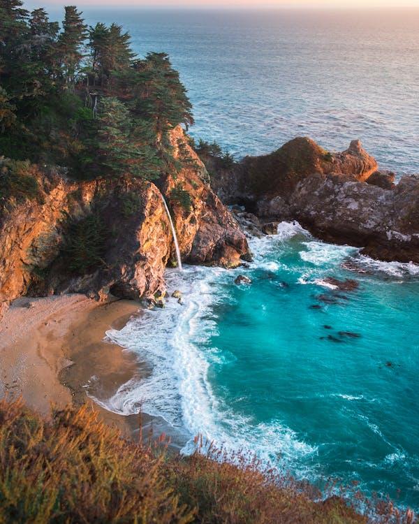 à beira-mar, alvorecer, amanhecer