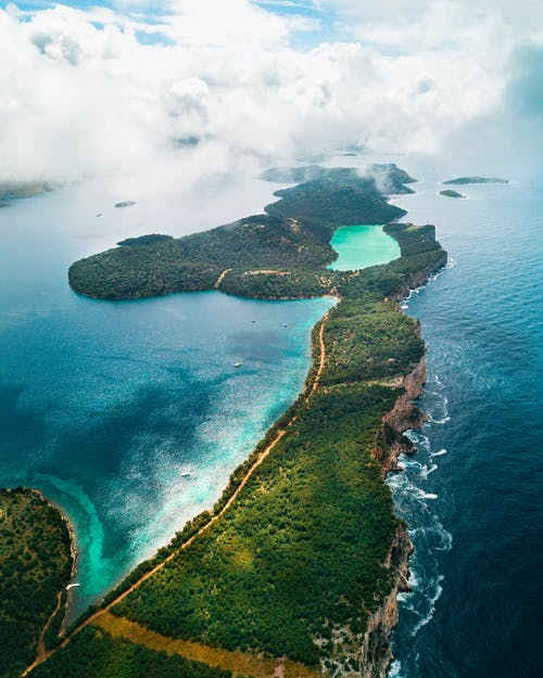 Bird's Eye View Photo Of An Island