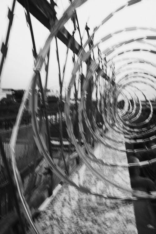 Foto Monokrom Kabel Berduri