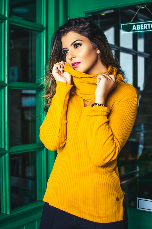 Photo Of Woman Wearing Yellow Sweater