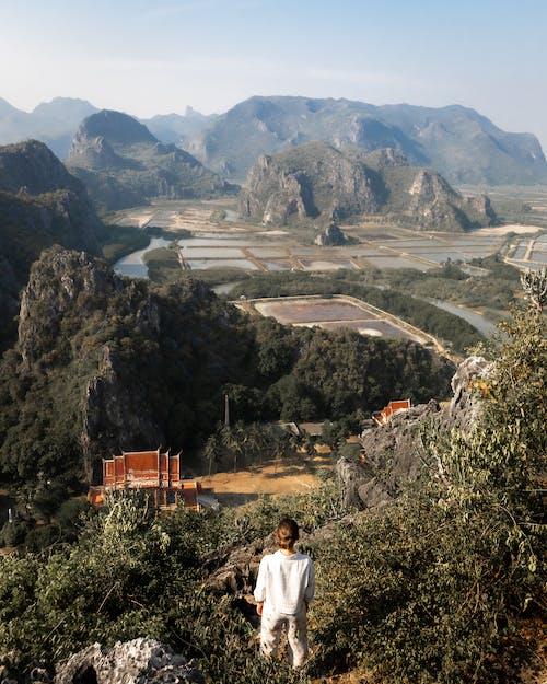 Imagine de stoc gratuită din Asia, ferma de apa, peisaj de sus, templu budist