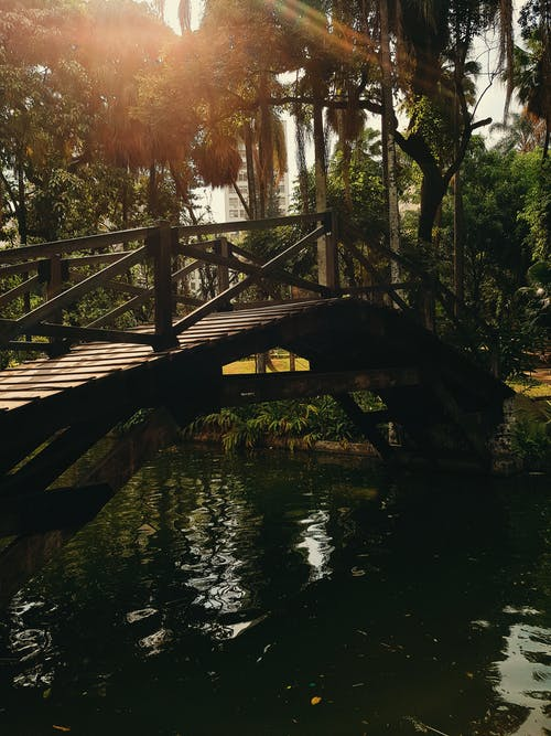 Δωρεάν στοκ φωτογραφιών με γέφυρα, λιμνούλα, μπέλο οριζόντε, ποτάμι