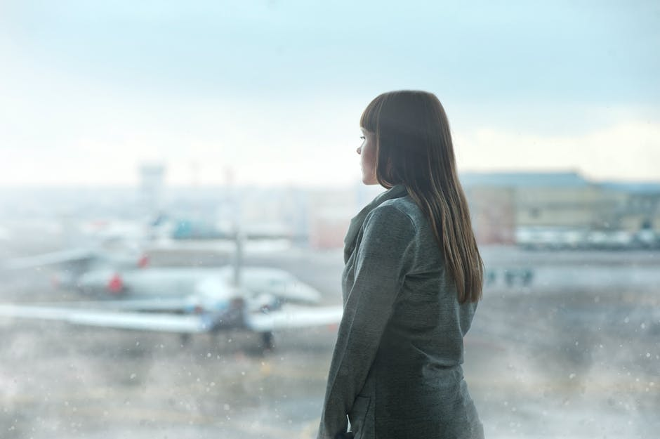 airplanes, airport, blur