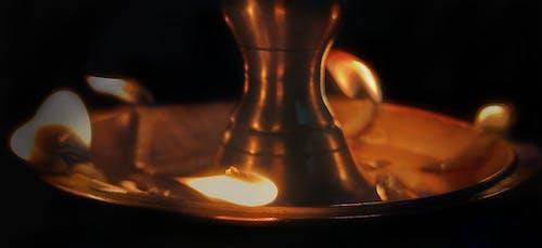 Free stock photo of black light, flame, gold, light