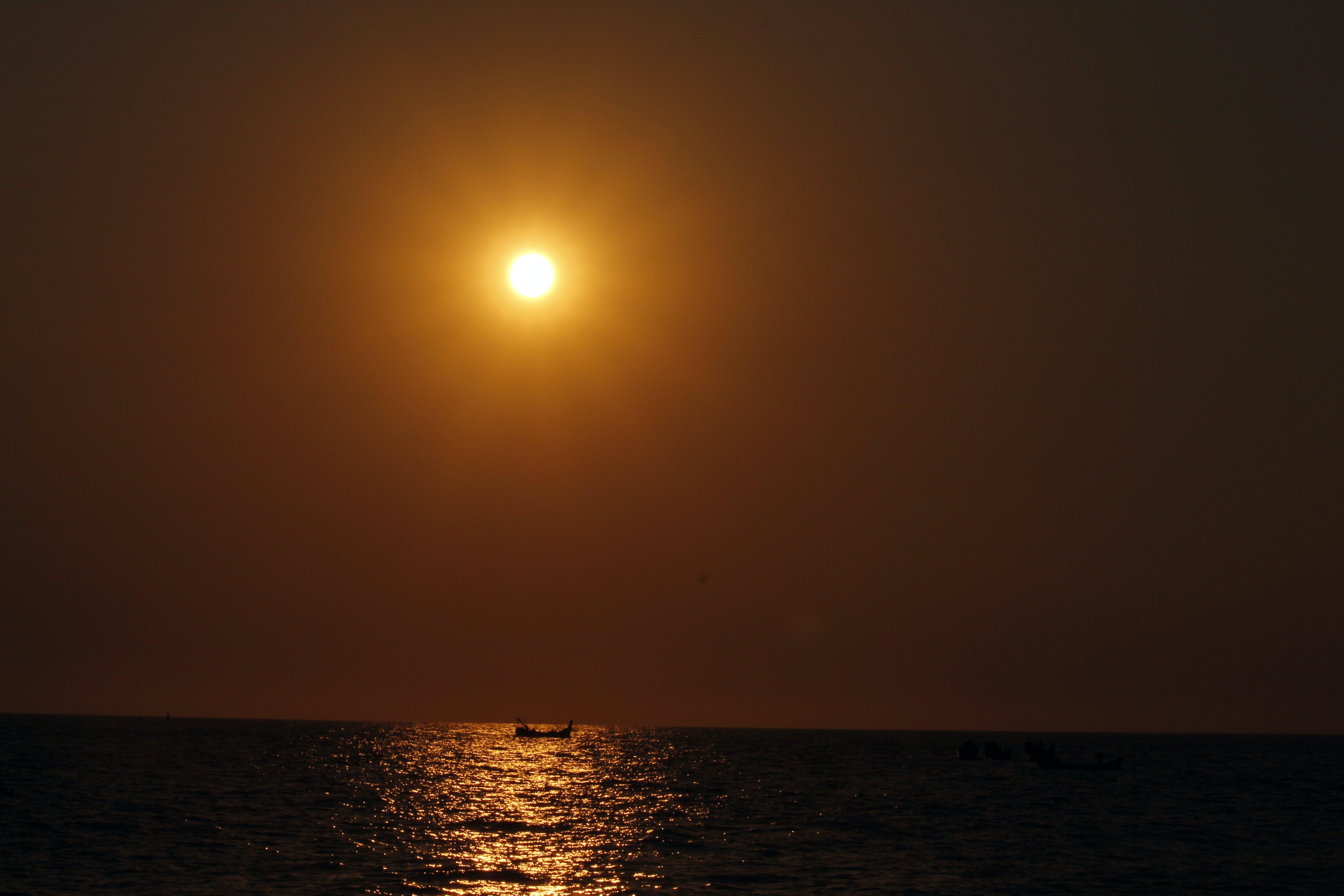 Free stock photo of beach, beach sunset, boat, evening