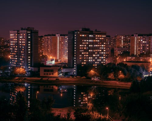 Free stock photo of city night, moscow, night