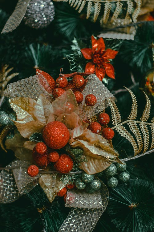 Multicolored Christmas Wreath