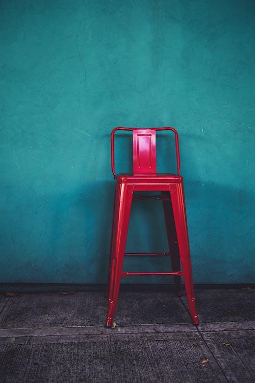 Základová fotografie zdarma na téma červená, červená stolička, petrolejová