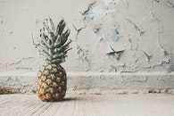 food, wall, pineapple