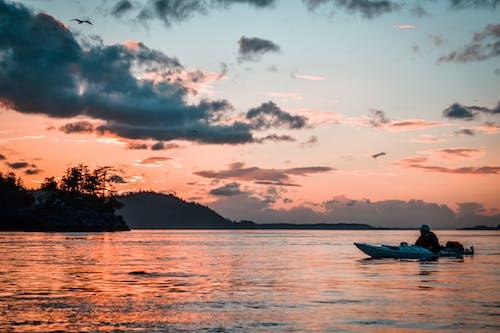 Free stock photo of Beautiful sunset, kayak, kayaking, pacific northwest