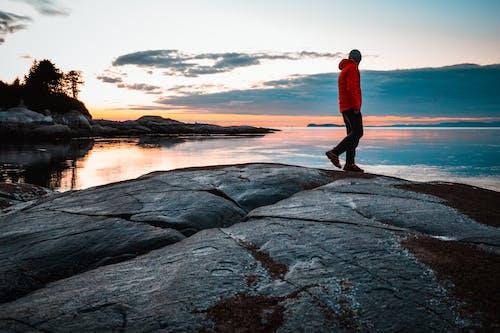 Foto d'estoc gratuïta de alba, bonic capvespre, capvespre, cos d'aigua