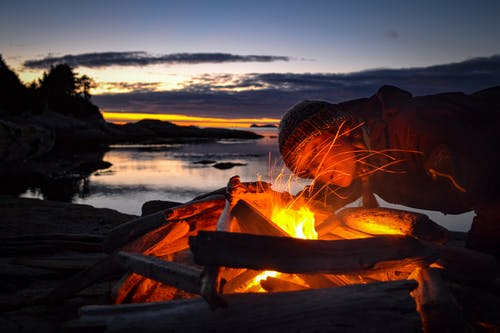 Free stock photo of #outdoorchallenge, Beautiful sunset, british columbia, camp fire