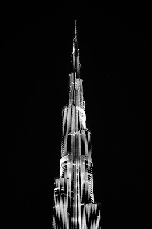 Photos gratuites de architecture, burj khalifa, citadin, dubaï