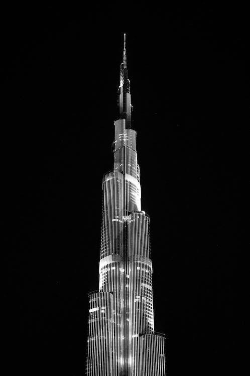 arkitektur, burj khalifa, bygningens eksteriør