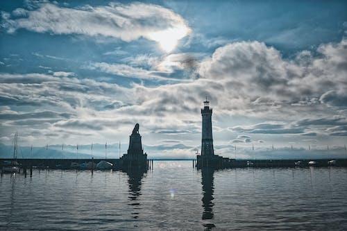 Ingyenes stockfotó ég, felhőképződés, felhős kanyon, jachtkikötő témában