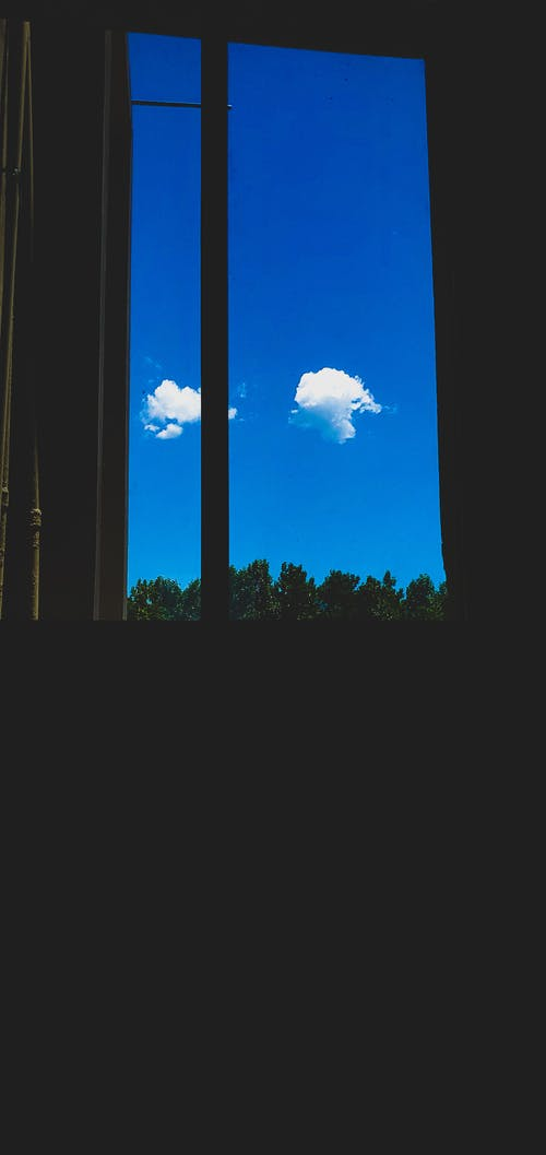 Free stock photo of bluesky, cloud, window