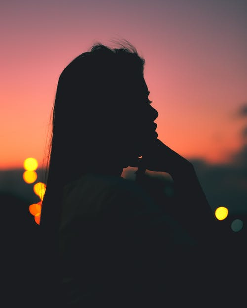 Silhouette Photo of a Woman