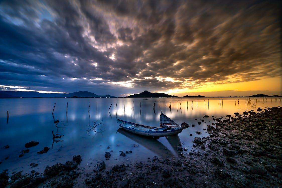 dramatický, jezero, moře