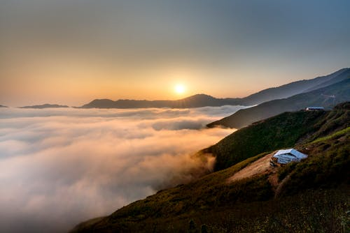 Kostnadsfri bild av berg, bergen, gryning, gyllene timmen