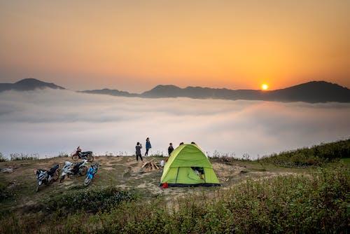 Fotos de stock gratuitas de acampar, al aire libre, amanecer, anochecer