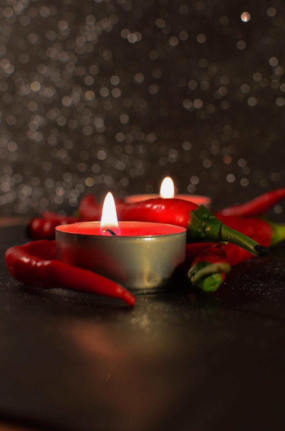 candles, chillies, hot