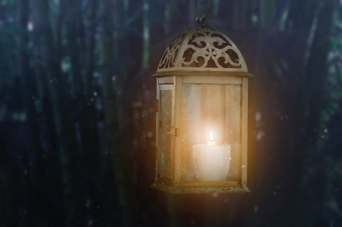 Brown Candle Lantern
