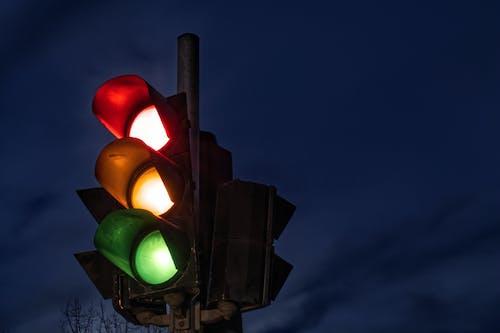 Бесплатное стоковое фото с длинная экспозиция, режимное время, светофор