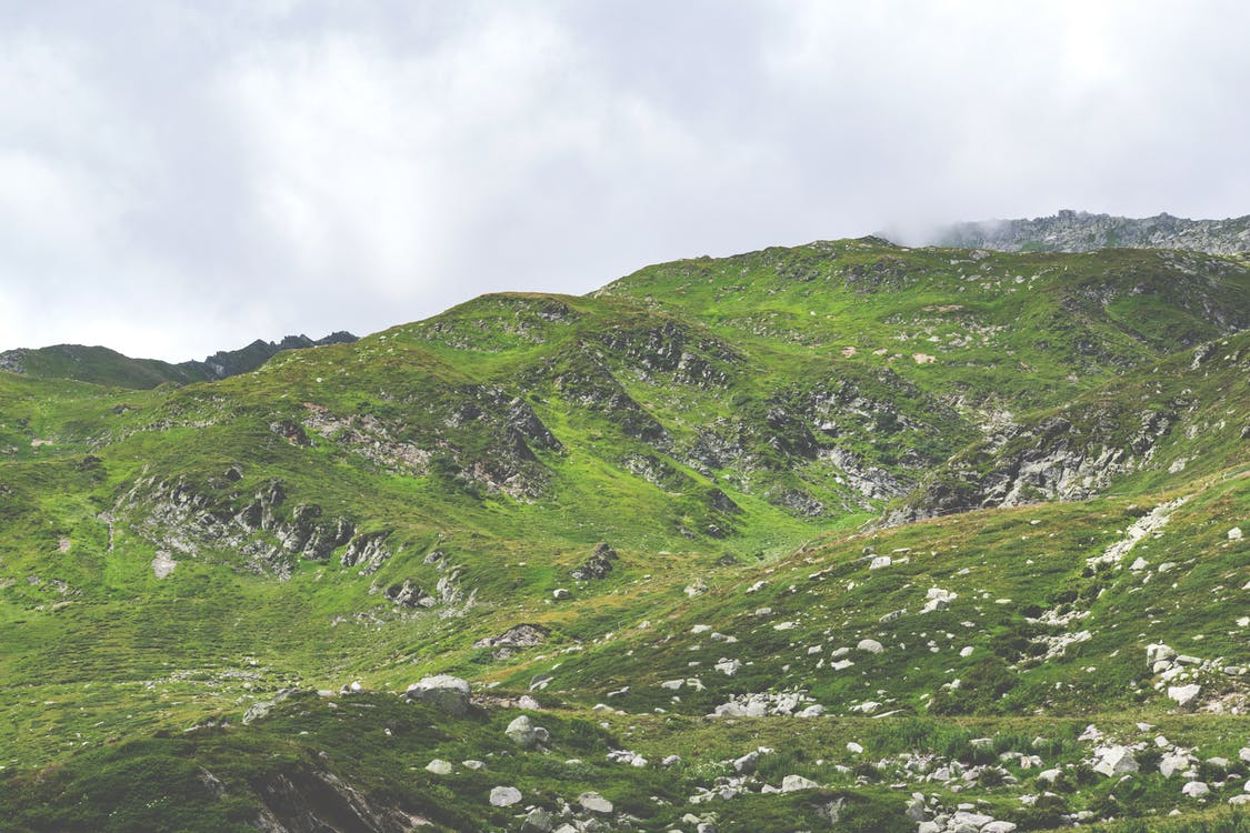 Gree Grass-covered Mountain