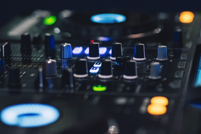 Free stock photo of detail, DJ Mixer, led lights, sound control