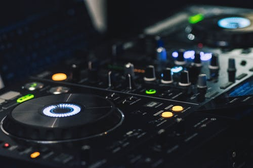 Shallow Focus Photography of Black Dj Controller