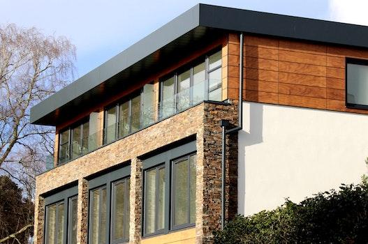 Facade of Modern Building Against Clear Sky