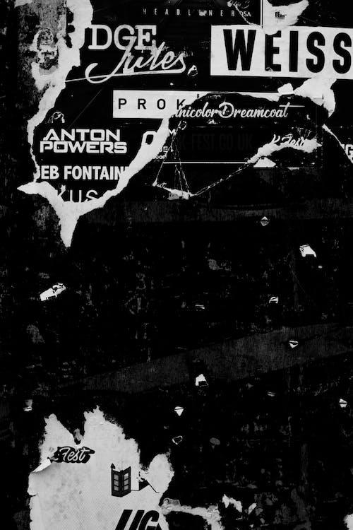 Plakat Czarno Biały